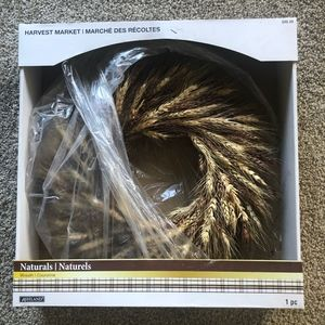 Harvest Market Wreath Naturals Wheat Ashland box